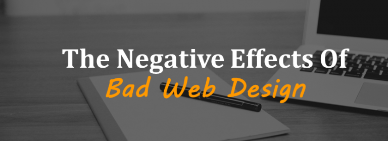 The negative effects of bad web design